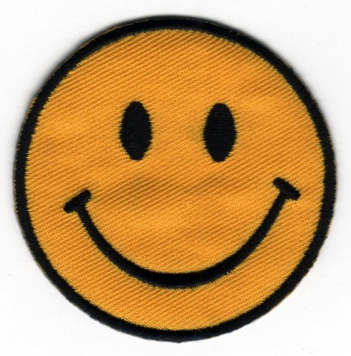 sew-on-iron-on-embroidered-patch-smiley-face-badge