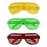Newin Star - Gafas de Sol de plástico, 6 Unidades, para Fiestas, Gafas de Sol, Gafas de Fiesta, Accesorios al Azar