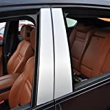6x Alu gebürstet silber Türzierleisten Verkleidung B Säule Türsäule passend für Ihr Fahrzeug