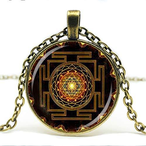 Heißer Verkauf, Steampunk Sri Yantra Mandala Halskette, Buddhistische Heilige Geometrische Charme Männer Und Frauen Schmuck.