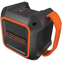 Black & Decker BDCSP18N Cubo Negro, Naranja altavoz portátil - Altavoces portátiles (Inalámbrico, Batería, Bluetooth, Tablet / Smartphone, Cubo, Negro, Naranja)