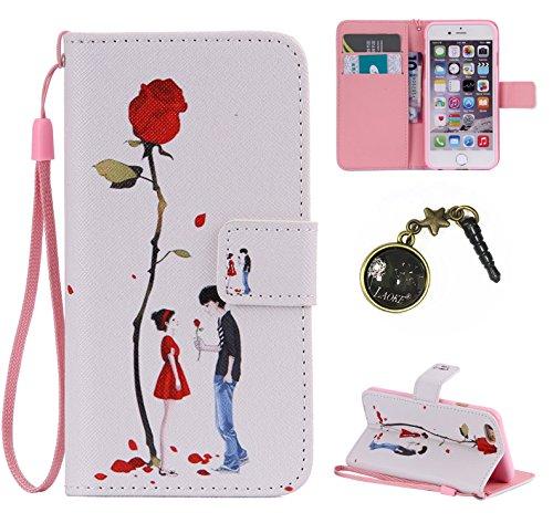 PU Cuir Coque Strass Case Etui Coque étui de portefeuille protection Coque Case Cas Cuir Swag Pour iPhone 5 / 5s / SE +Bouchons de poussière (O15) 12