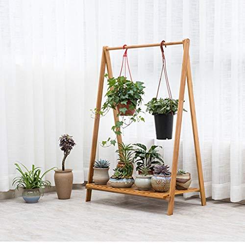 Lsrryd Colgar Bambú Soportes para Plantas Plegable Exterior Interior Decorativa Flor Simple Capacidad De Carga Fuerte (Tamaño : 90x70x38cm)