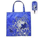 TAOtTAO Shopping Bags Schmetterlings-Falten-Einkaufstasche-Wiederverwendbare Tasche große Kapazitäts-Tragbare Einkaufstasche (Blau)