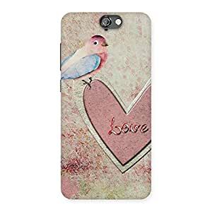 Enticing Bird On Heart Print Back Case Cover for HTC One A9