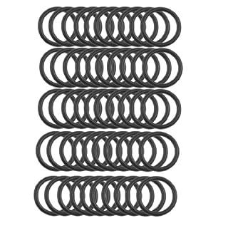 sourcing map 50 Stück 18mm x 2mm Automobile Abdichtung NBR O-ringe Unterlegscheiben