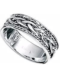 Celtic Ring Thumb Sterling Silver finger ladies mens sizes L- Z