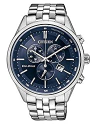 Citizen Eco-Drive Analog Blue Dial Mens Watch - AT2140-55L