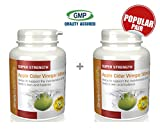 Apple Cider Vinegar 500mg | Appetite Suppressant & Helps Lower Cholesterol | Bundle Deal 120+120 κάψουλες (240 in total) | 100% money back guarantee | Manufactured in the UK
