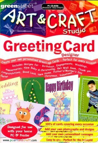 Price comparison product image Art And Craft Studio Greeting Card Designer Pc Cd Rom