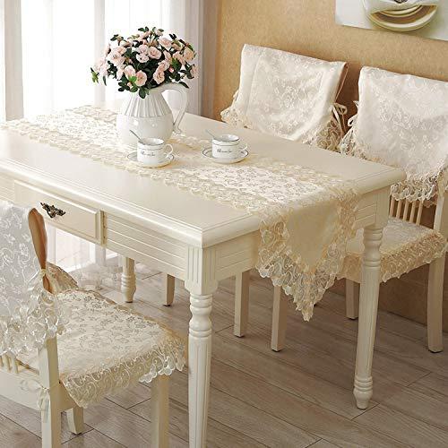 FeiFei156 Tisch Tisch Flagge Tv Schrank Stoff Kunst Tee Mehrere Flagge Reis Gelb Spitze Schal Schuh Schrank Abdeckung Tuch beige 40 x 180cm scharfer Winkel -