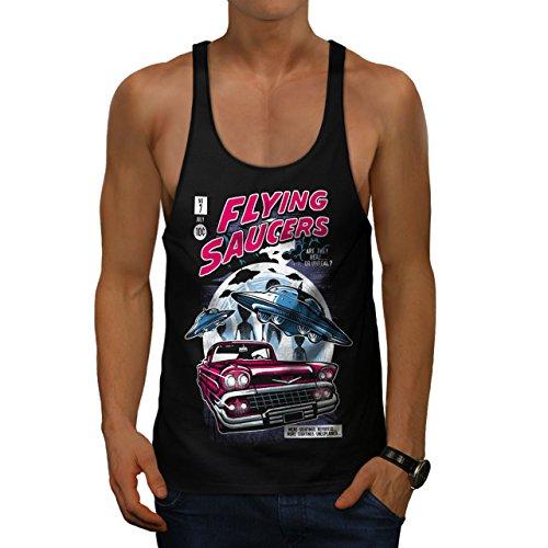 Fliegend Untertassen Mode Herren M Gym Muskelshirt | Wellcoda China Fliegende Untertasse