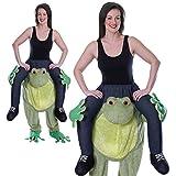 Erwachsene Frosch Fasching Herren Kostüm Huckepack Schlüpfkostüm Party Animal Carry Me -