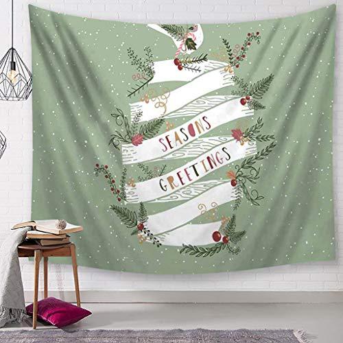 Wandteppich Teppich (Sixcup Wandteppiche,Weihnachts Teppich Santa Print Wandbehang Tapisserie,Wall Art Poster Home Dekorationen für Wohnzimmer Schlafzimmer Wohnheim Dekor,200x150cm (B))