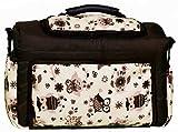 TK-45 Wickeltasche Shopper Reisetasche KIM von Baby-Joy XXXL Übergröße Graphit Braun Creme Eule 10 Windeltasche Pflegetasche Babytasche Tragetasche
