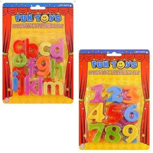 magntico-Letras-Del-Alfabeto-nmerios-Plstico-educativo-juguete-paquete-de-2