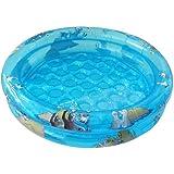 Funny Seals Baby Pool, 2 Ringe, aufblasbarer Boden, aufgeblasen 74 x 18 cm