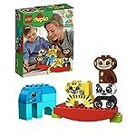 LEGO DuploMyFirst IMieiPrimiAnimaliEquilibristi, Set di Mattoncini Giocattolo per Bambini in età Prescolare 1,5 Anni, 10884 LEGO