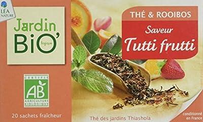 Jardin BiO Thé Noir Rooibos Saveur Tutti Frutti 20 Sachets 30 g - Lot de 4