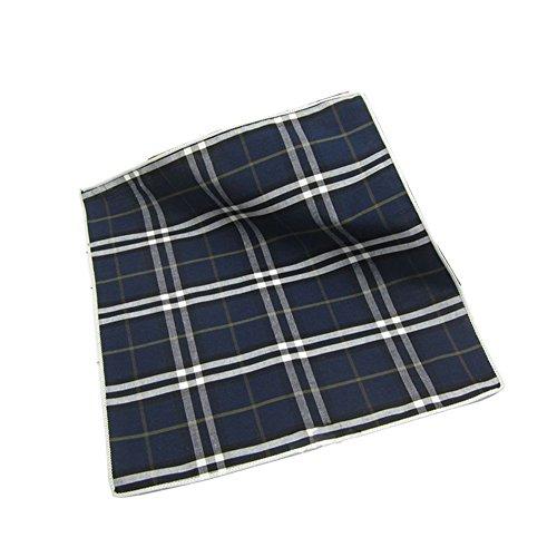 Sitong costume homme coton plaid imprim¨¦ mouchoir poche carr¨¦ GZA46