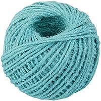 jooks Cable de cuerda de cáñamo cuerda de cinta, yute bola para decoración y arte manualidades DIY regalo (azul)