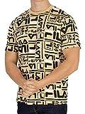 Fila Vintage Herren Charlie T-Shirt, Beige, Large