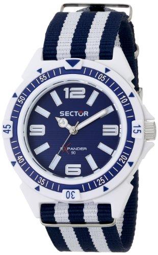 Sector  R3251197028 - Reloj de cuarzo para hombre, con correa de tela, color bicolor