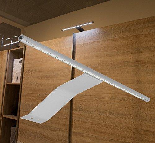 LED Aufbauleuchte Schrankleuchte / Art. 2085/86-0 / Lichtfarbe warmweiß oder kaltweiß mit Kabel und Steckverbindung Spiegellampe Schrankleuchte Möbelleuchte Aufbaulampe Alu (Lichtfarbe warmweiß)