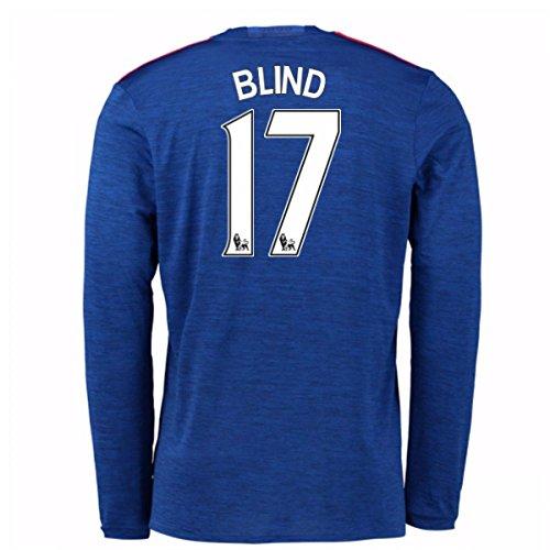 2016-17 Man United Away Long Sleeve Shirt (Blind 17) - Kids