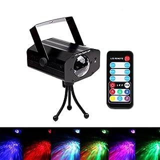 ANGTUO Outdoor Wasser Wave Lights Fernbedienung 7 Farben LED Ocean Atmosphere Lampe für Bühne, Rasen, Festival, Event, Party, Hochzeit, Weihnachten