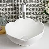 AOSHE Waschbecken Waschbecken Weiß Keramik Behälter Keramik Waschbecken (Einzelwaschbecken)
