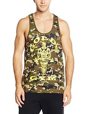Golds Gym Muscle Joe Premium Camo Stringer Vest, Camiseta Sin Mangas Para Hombre