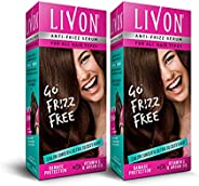Livon Serum for Women for All Hair Types,For Frizz-free, Smooth & Glossy Hair, 100 ml (Pack o