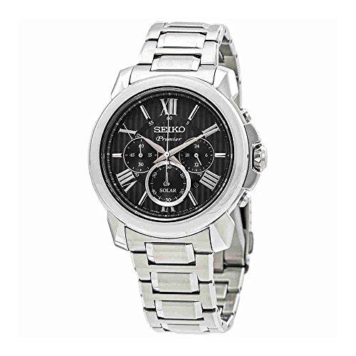 Seiko Premier SSC597 Herren-Armbanduhr mit Solar-Quarz