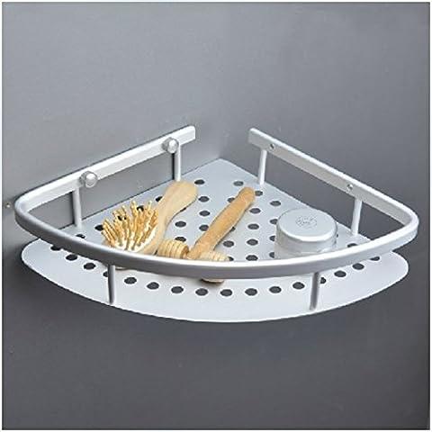 Bagno spazio alluminio rack/Cestino toilette parete gancio/Angolo-D