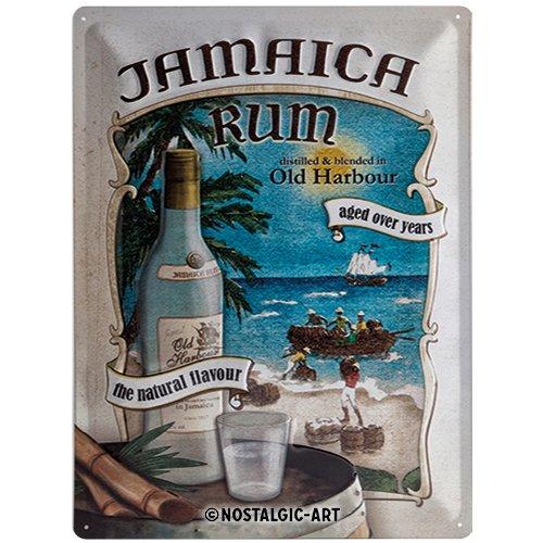 Nostalgic-Art 23138 Bier und Spirituosen Jamaica Rum, Blechschild, 30 x 40 cm