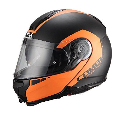 nzi-helm-modular-faser-combi-duo-graphics-bands-schwarz-und-orange-matt-xl-negro-y-naranja-mate