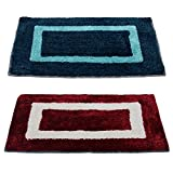 #4: Story@Home Handicraft Style Eco Series 2 Piece Cotton Blend Door Mat Set - 16
