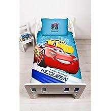 """Disney - Juego de funda nórdica, diseño de """"Rayo McQueen"""" de la película """"Cars 3"""", juvenil, multicolor, tamaño grande"""