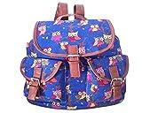 Minetom Damen Herren Vintage Modisch Casual Canvas Haltbare Segeltuch Taschen Reise Schultasche Rucksack (Style07)