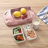 Comaie® Kinder-Bamboo Dinner Set, umweltfreundlich, spülmaschinenfest Kinder Essen Weihnachts-Teller Geschirr-Faser-car-shaped Wasser zu trinken von Teller Schale, Tasse