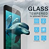 """Youer Phone 8/7/6s/6 Plus Screen Protector, [2 Pack] iPhone 8 Plus/7 Plus/6s Plus/6 Plus Premium Tempered Glass Screen Protector Film, Shatterproof, 9H Hardness, Bubble Free, for apple iPhone 8P/7P/6sP/6P 5.5"""" inch"""