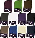 NatureMark Frottee Spannbetttuch, Spannbettlaken in allen Größen und vielen Farben (180x200 bis 200x200 cm, anthrazit)