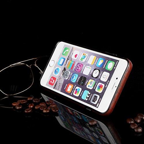 """MOONCASE iPhone 6S Plus Coque en Cuir Slim Fit Housse Etui de protection Flexible Case pour iPhone 6 Plus / 6S Plus 5.5"""" [Slip Resistant] avec Card Slot Noir Violet"""