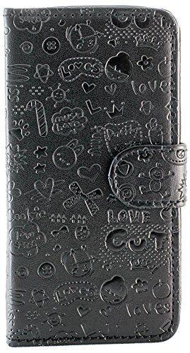Purple Eyes Cute ABC flip Case Cover For Samsung Galaxy S4 i9500 CUTE Black