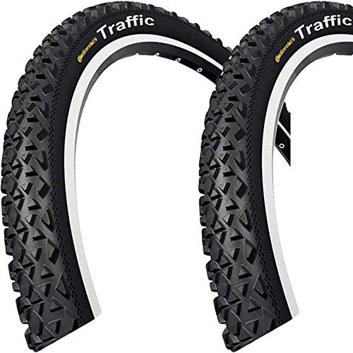 2 x Continental Traffic Draht Reifen 26 x 1,9 | 50-559 schwarz -