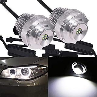 HSUN E60 LCI Angel Eyes LED Marker Bulb,20W CREE XT-E High Power Chip 3000LM Super Bright Bulbs with Decoder Canbus Error Free,6000K White,2 Pack