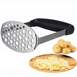 Schiacciapatate – Smaier schiacciapatate in acciaio inox superficie forata e liscia realizzata per schiacciare le patate
