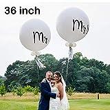 Mr & Mrs Luftballons XXL Latex-Luftballons für Hochzeit, Verlobung, Party, Dekoration, Hochzeit, Hochzeit, Party, Dekoration, Jahrestag, Dekoration, Foto-Requisiten, Valentinstag, Event, 2 Stück 36 inch