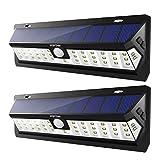 Mpow Solarleuchte Außen Strahlern 42 LED Lampe mit Bewegungssensor und Zeiteinstellung [Wasserdicht/Solarenergie/Kabellos/Super hell] für Garten,Wegbeleuchtung,Balkon,Hofeinfahrt,Hof,Gehwegen usw.